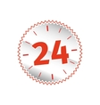 24 hours sign vector image
