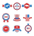 Set of Various Voting Graphics Objects and Labels vector image