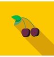 Cherries icon flat style vector image