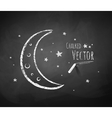 Crescent and stars vector image