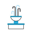 fountain with water splash element vector image