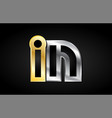 gold silver letter joint logo icon alphabet design vector image
