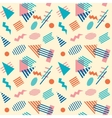 Seamless retro geometric pattern background vector image