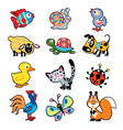 simple children picture with animals vector image