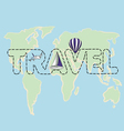 Travel map on a globe vector image