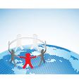 globe people vector image vector image