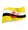 State flag of Brunei vector image