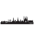 Kazan Russia city skyline Detailed silhouette vector image vector image