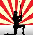 Ninja Girl vector image
