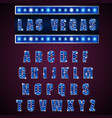 alphabets lamp of light neon of blue vector image