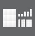 Blank white folding paper flyer vector image