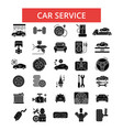 car service thin line icons linear vector image