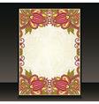 flayer ornate floral design vector image
