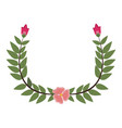 laurel wreath round and half laurel bottom vector image