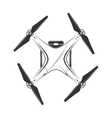 monochrome picture of drone top view vector image