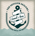 Nautical Anchor Isolated on Old Paper vector image