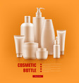 realistic cosmetic bottle vector image
