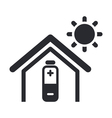 solar energy home icon vector image