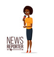 television reporter reporter girl tv vector image