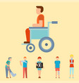 trauma accident fracture human disabled people vector image