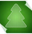 Christmas background with tree of lace vector image vector image
