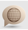 Earth Globe sign Brown gradient icon on bubble vector image