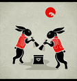 Moon rabbits vector image vector image