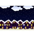 winter house snowfall night vector image