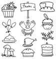Doodle of element thanksgiving collection vector image