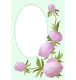 floral border with peony for vector image