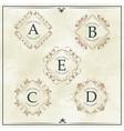 luxury company monogram typographic identity vector image