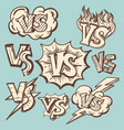 vintage versus confrontation signs collection vector image