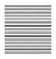 rope brushes set rope frame design elements vector image