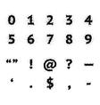 Black Ink Grunge Symbols vector image