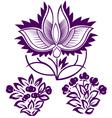 decorative flower emblem vector image vector image