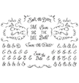 Set of Hand Drawnf Rustic Decorative Swirls vector image