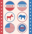 Retro Style of Button for Vote or Voting Campaign vector image
