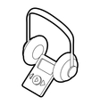 Audio guide icon outline style vector image