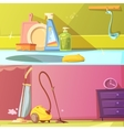 Cleaning Banners Set vector image