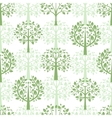 Green trees seamless pattern background vector image