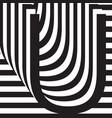 letter u design template vector image