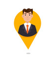 mapping pin character emotion vector image