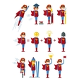 set of superwomen female vector image