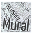 nursery wall murals Word Cloud Concept vector image