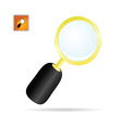 magnifier glass color vector image