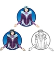 Winter Queen beautiful female character vector image vector image