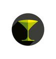 HoReCa graphic element sophisticated martini glass vector image