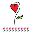 flower of love vector image
