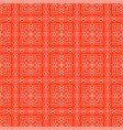 red ornamental seamless line pattern vector image