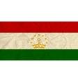Tajikistan paper flag vector image